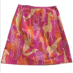 Lilly Pulitzer Bella Giraffe White Label Skirt